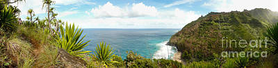 Photograph - Panoramic View Over Na Pali Coast From The Kalalau Trail by IPics Photography