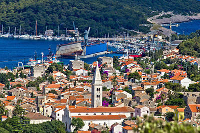 Photograph - Panoramic View Town Of Mali Losinj by Brch Photography