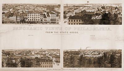 Philadelphia Drawing - Panoramic Views Of Philadelphia by Litz Collection