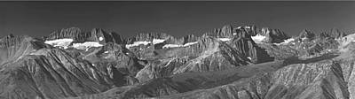 Photograph - 4m6475-bw-e-panorma Palisade Group Bw by Ed  Cooper Photography