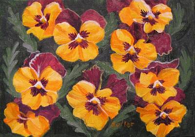 Pansies Are For Thoughts Art Print