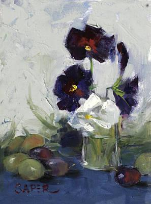Painting - Pansies by Chris  Saper