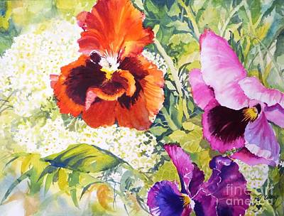 Pansies Delight #2 Art Print by Betty M M   Wong