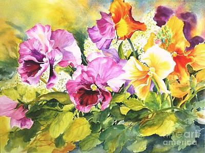 Pansies Delight #3 Art Print