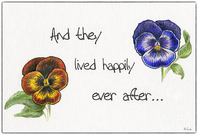 Drawing - Pansies Ever After by Walt Foegelle
