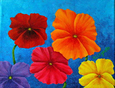 Painting - Pansies For Rosalina by Pamela Allegretto