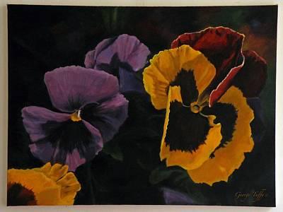Painting - Pansies by George Tuffy