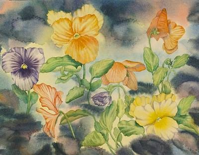 Floral Painting - Pansies by Heather Gallup