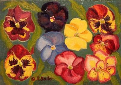 Painting - Pansies II by Ruth Soller