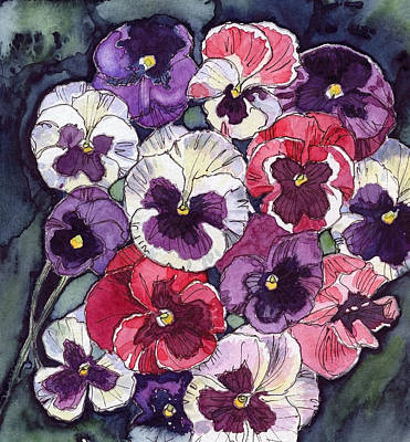 Pansies Art Print by Katherine Miller