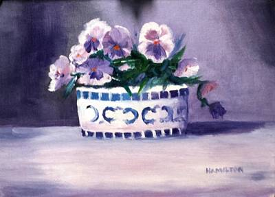 Painting - Pansies by Larry Hamilton