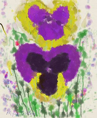 Digital Art - Pansies by Mary M Collins