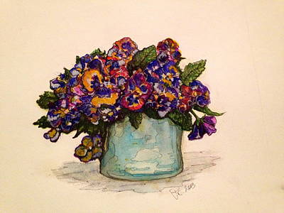 Painting - Pansies by Rae Chichilnitsky