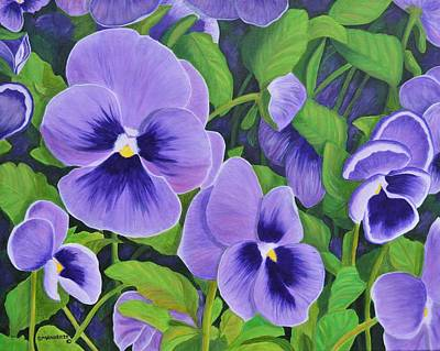 Painting - Pansies Schmanzies by Donna  Manaraze