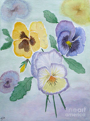 Painting - Pansies by Yvonne Johnstone