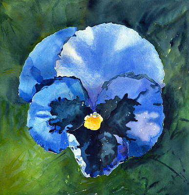 Painting - Pansy Blue by Katherine Miller