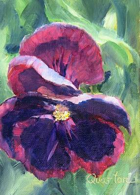 Painting - Pansy Face by Lori Quarton