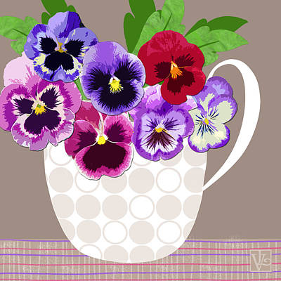 Pansy Passion Art Print by Valerie Drake Lesiak