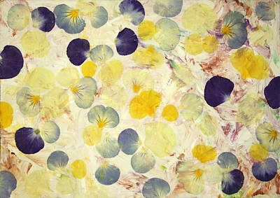 Flower Blooms Mixed Media - Pansy Petals by James W Johnson