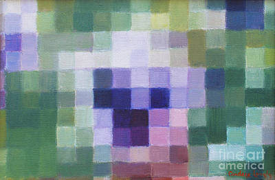 Hearty Painting - Pansy Pixel by Candace Lovely