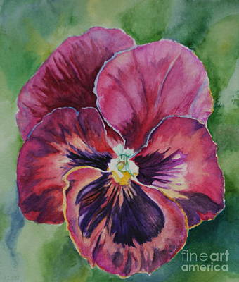 Painting - Pansy Play Subdued by Susan Herber