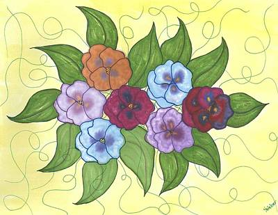 Pansy Posy Art Print by Susie WEBER