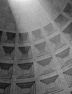 Photograph - Pantheon Ceiling by Michael Kirk