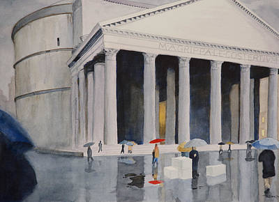 Landscape Painting - Pantheon Drizzle by Christopher Reid