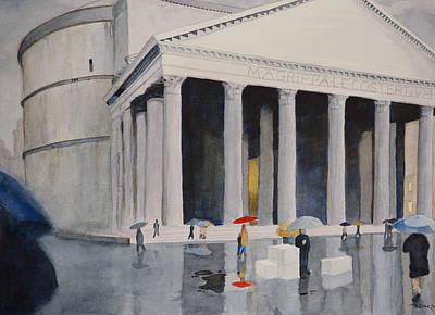 Pantheon Drizzle Art Print