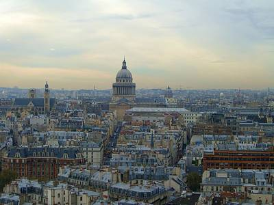 Paris Skyline Royalty-Free and Rights-Managed Images - Pantheon in Paris by Scott Carda