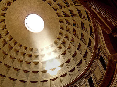 Photograph - Pantheon, Interior. Rome, Italy by Blueplace