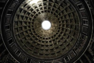 Pantheon Oculus Art Print by Joan Carroll