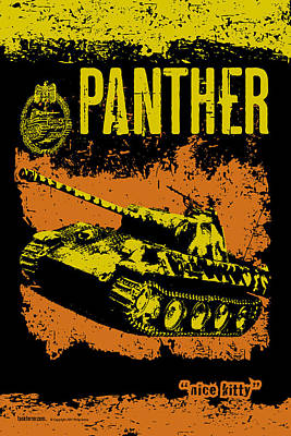 Panther Ausf A Print by Philip Arena