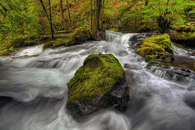 Farmhouse Rights Managed Images - Panther Creek Falls Royalty-Free Image by David Gn