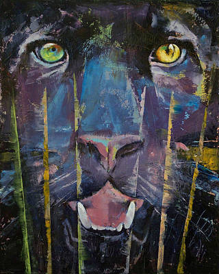 Black Face Painting - Panther by Michael Creese