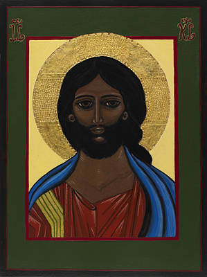 Egg Tempera Painting - Pantocrator - Jesus Christ by Ilse Wefers