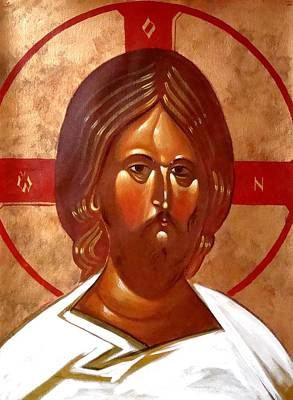 Greek Icon Painting - Pantocrator by Joseph Malham