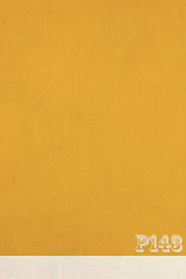 Mustard Yellow Mixed Media - Pantone 143 Mustard Yellow Color On Worn Canvas by Design Turnpike