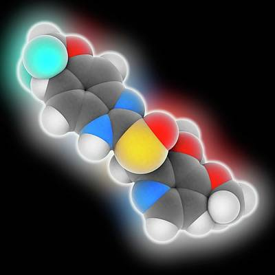 Pantoprazole Drug Molecule Art Print