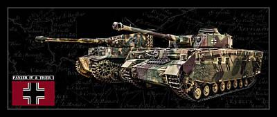 Photograph - Panzer Iv And Tiger Tanks Bk Bg by Weston Westmoreland