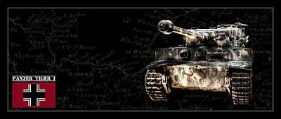 Photograph - Panzer Tiger I Front Bk Bg by Weston Westmoreland