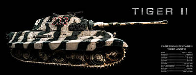 Photograph - Panzer Tiger II Side Bk Bg 2 by Weston Westmoreland