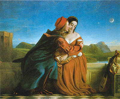 Embrace Painting - Paolo And Francesca by William Dyce