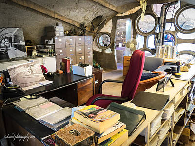 Photograph - Paolo Soleri's Office I by Diane Wood
