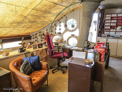 Photograph - Paolo Soleri's Office II by Diane Wood