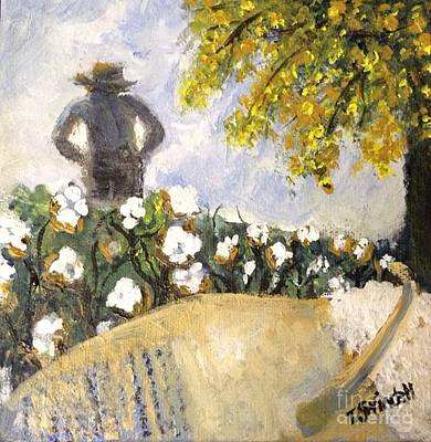 Painting - Papa In The Cotton Field by Tina Swindell