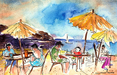Papagayo Beach Bar In Lanzarote Art Print