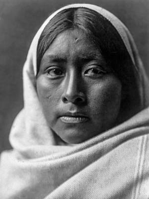 Papago Indian Woman Circa 1907 Art Print