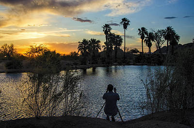 Photograph - Papago Park Phoenix Photographer At Sunset by Dave Dilli