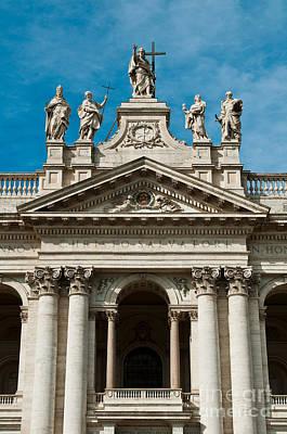 Papal Archbasilica Of Saint John Lateran Art Print by Luis Alvarenga